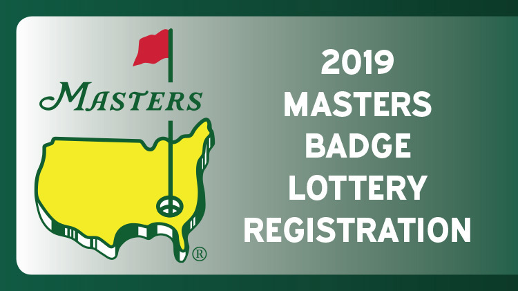 2019 Masters Badge Lottery Registration