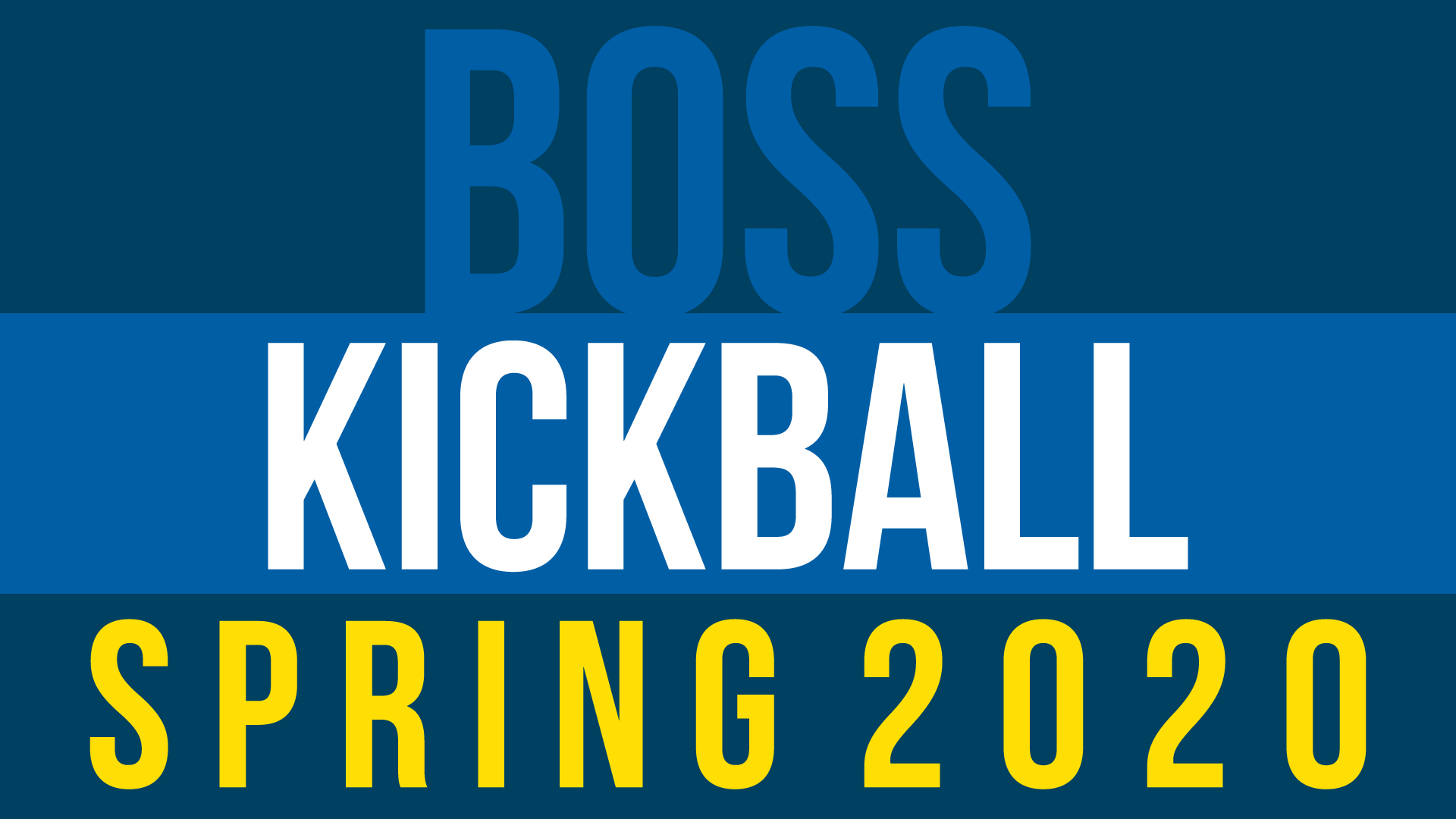 Spring Kickball Tournament